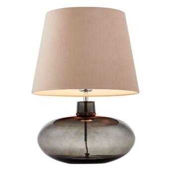 Kaspa :: Lampa stołowa Sawa Velvet beżowa chrom dymny
