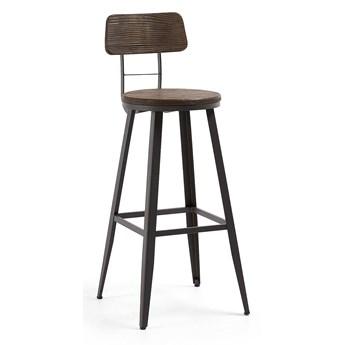 Krzesło barowe / hoker Linde brązowe wys. 103 cm