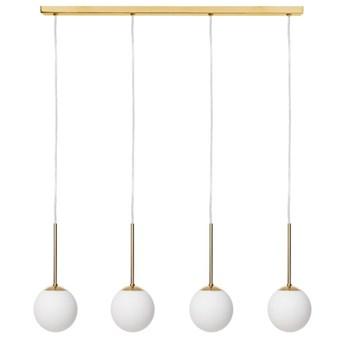 Kaspa :: Lampa wisząca Lamia listwa 4 klosze złota
