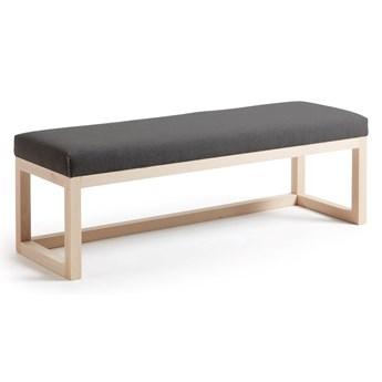 Tapicerowana ławka Yola 128x42 cm szara