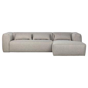 Woood :: Sofa narożna tapicerowana Bean prawa jasnoszara