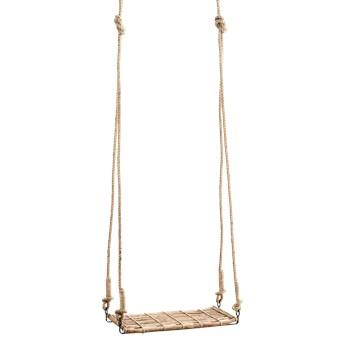 Madam Stoltz :: Huśtawka bambusowa brązowa wys. 170 cm