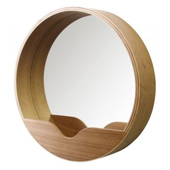Zuiver :: Lustro z drewnianą ramą Round