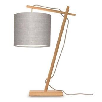 GOOD&MOJO :: Lampa biurkowa Anders szara / podstawa brązowa wys. 46 cm