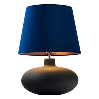 Kaspa :: Lampa stołowa Sawa Velvet niebiesko-czarna