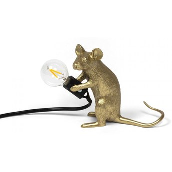 Seletti :: Lampa stołowa Mouse Mac złota