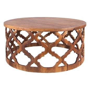 TABLE4U :: Drewniany stolik kawowy Huggen Stor śr. 90x40 - kolor bursztyn
