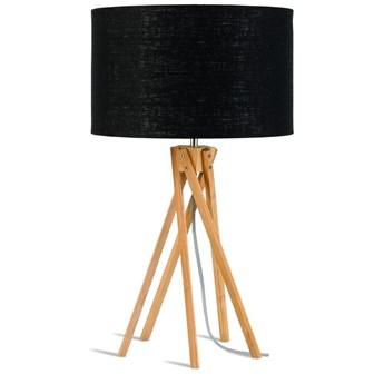 Good&Mojo :: Lampa stołowa drewniana Kilimanjaro 26x34cm czarna