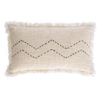 Poszewka na poduszkę Leila prostokątna beżowa 50x30 cm