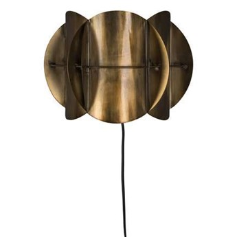 Dutchbone :: Lampa ścienna metalowa Corridor mosiężna