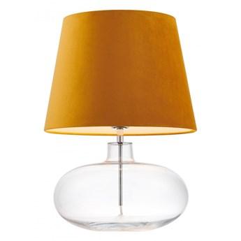 Kaspa :: Lampa stołowa Sawa Velvet pomarańczowo-transparentna