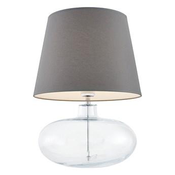 Kaspa :: Lampa stołowa Sawa szaro-transparentna