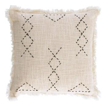 Poszewka na poduszkę Leila kwadratowa beżowa 45x45 cm