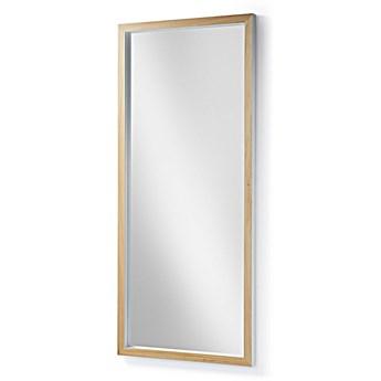 Lustro w drewnianej ramie Dona 178x4 cm białe