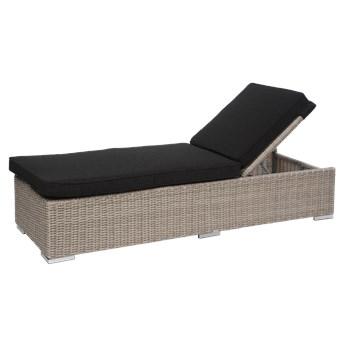 Miloo :: Leżak ogrodowy West z poduszką 193x62x35 cm