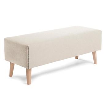 Tapicerowana ławka Lydia 111x42 cm beżowa