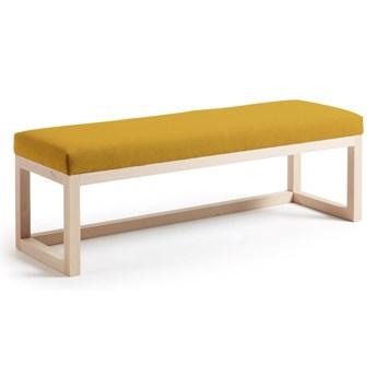 Tapicerowana ławka Yola 128x42 cm żółta