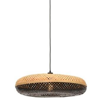 GOOD&MOJO :: Lampa wisząca Palawan czarno-brązowa śr. 60 cm