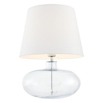 Kaspa :: Lampa stołowa Sawa biało-transparentna