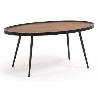 Drewniany stolik Olaz 43x56 cm czarny