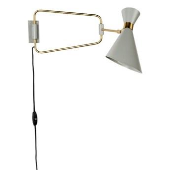 Zuiver :: Lampa ścienna metalowa Shady szara