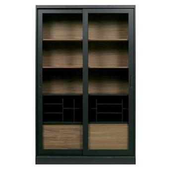 Woood :: Regał / witryna drewniana James czarna