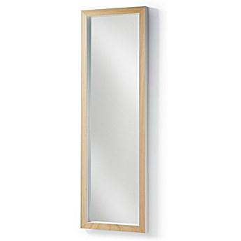 Lustro w drewnianej ramie Dona 48x4 cm białe