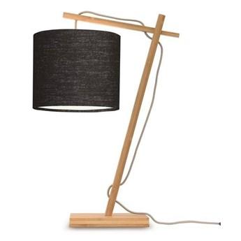 GOOD&MOJO :: Lampa biurkowa Anders czarna / podstawa brązowa wys. 46 cm
