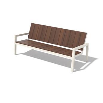 Egoe :: Ławka ogrodowa Laurede 3-osobowa brązowa szer. 183,5 cm