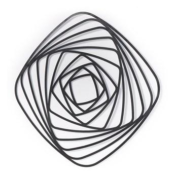 Metalowa dekoracja ścienna Uniwa 70 cm czarna