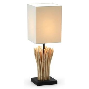 Drewniana lampa stołowa Poob beżowa