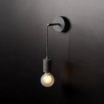 LOFTLIGHT :: Lampa ścienna / kinkiet Kalla Wall Steel szara wys. 8,5 cm