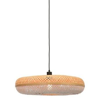 GOOD&MOJO :: Lampa wisząca Palawan brązowo-biała śr. 60 cm