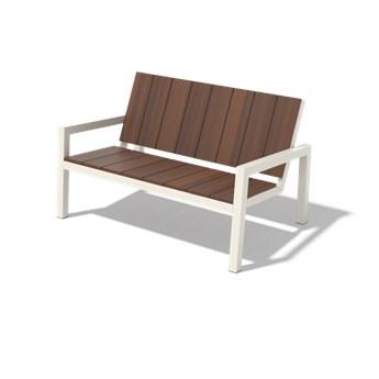 Egoe :: Ławka ogrodowa Laurede 2-osobowa brązowa szer. 125,5 cm