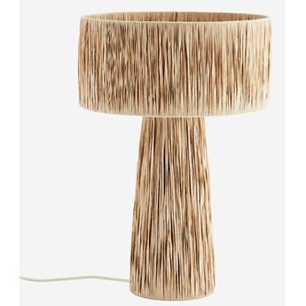 Madam Stoltz :: Lampa stołowa z rafią naturalna wys. 55 cm
