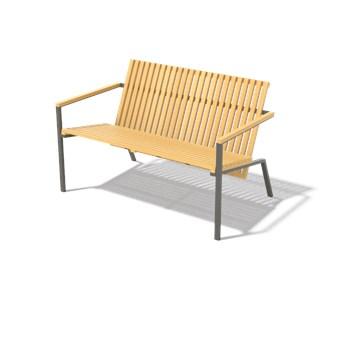 Egoe :: Ławka ogrodowa Axis brązowa szer. 120 cm