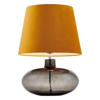 Kaspa :: Lampa stołowa Sawa Velvet pomarańczowa chrom dymny