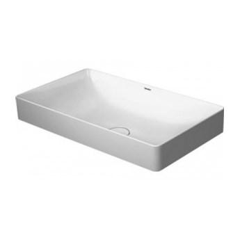 Duravit DuraSquare umywalka nablatowa bez przelewu, bez półki na baterię 60x34,5 biała (2355600000) - 24h! Warszawa