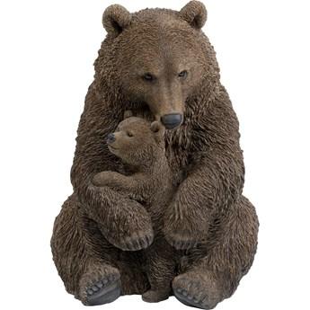 Dekoracje stojące Cuddle Bear Family 88x81 cm brązowa