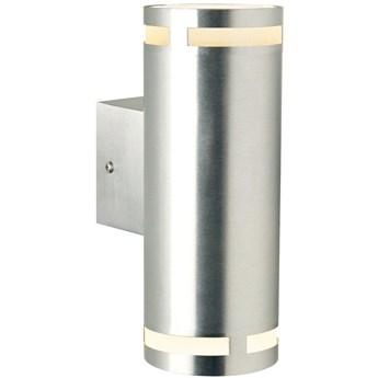 Kinkiet ogrodowy Can Maxi Ø8x23 cm srebrny