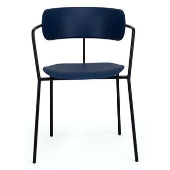 Krzesło z podłokietnikami Fox 55x77 cm granatowe