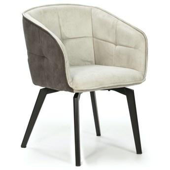 Krzesło z podłokietnikami Herta 59x82 cm jasnoszare