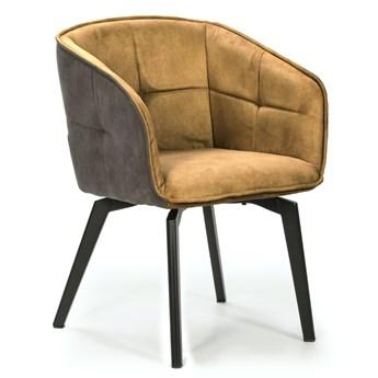 Krzesło z podłokietnikami Herta 59x82 cm musztardowe