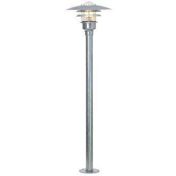 Lampa ogrodowa Lønstrup Ø32x116 cm srebrna