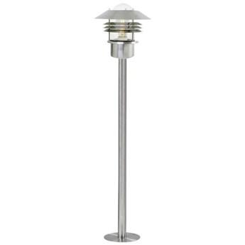 Lampa ogrodowa Vejers Ø22x100 cm srebrna