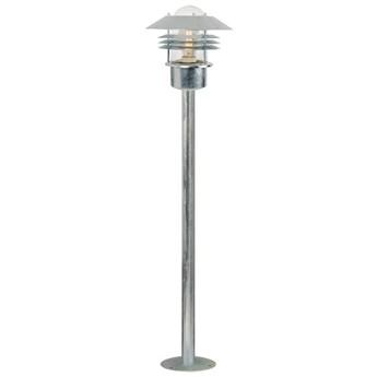 Lampa ogrodowa Vejers Ø22x93 cm chromowana