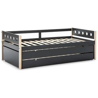 Łóżko rozkładane z pojemnikiem Compte 98x200 cm antracytowe