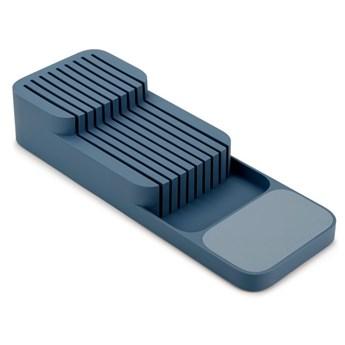 Organizer do szuflady na noże DrawerStore 40x14 cm niebieski