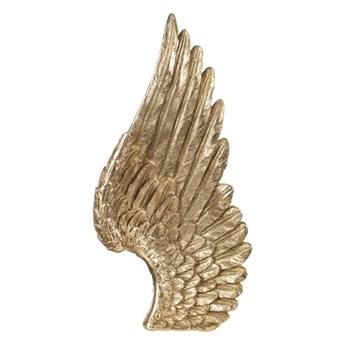 DEKORACJA WISZĄCA ZŁOTE SKRZYDŁO ANGEL GOLD 41x20x6CM