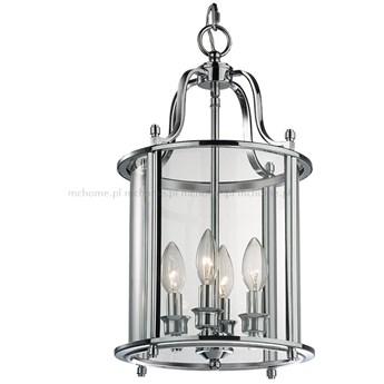 LAMPA WISZĄCA METALOWA SREBRNA HAMPTONS NO 10 4 X 60W
